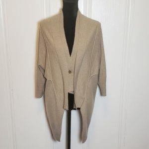 Nanette Lepore Cashmere Draped Cardigan - Size Med